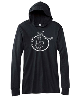 Catboy Hooded T-shirt - Lightweight Fashionable Hoodie