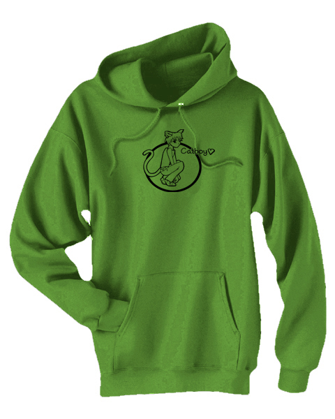 Catboys are Love Unisex Pullover Hoodie (black/green)