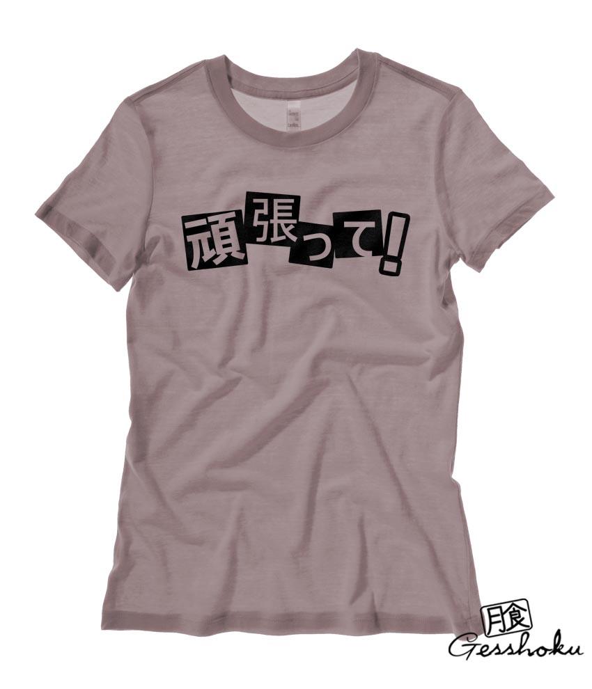 Euro Size T Shirt Cute Design Women Tshirts Fitness Ladies: Ganbatte! Kanji Ladies T-shirt