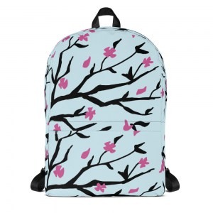 Sakura Blossoms Classic Backpack with Laptop Sleeve