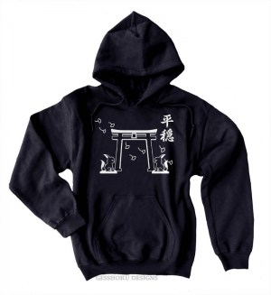 Tranquility Shrine Gate Pullover Hoodie