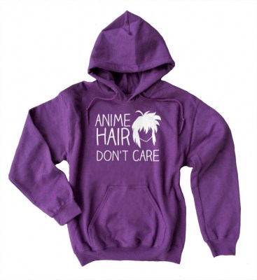 Anime Hair Don't Care Pullover Hoodie