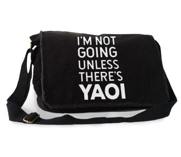 I'm Not Going Unless There's YAOI Messenger Bag