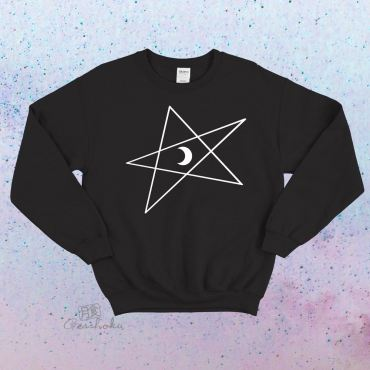 5-Pointed Moon Star Crewneck Sweatshirt