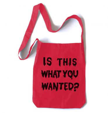 Is ThiS WHaT YoU wANTed? Crossbody Tote Bag