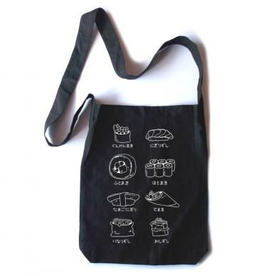 Sushi Types Crossbody Tote Bag