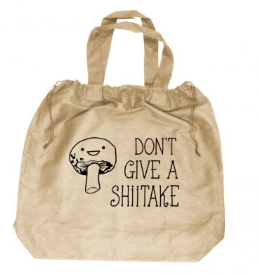 Don't Give a Shiitake XL Drawstring Beach Bag
