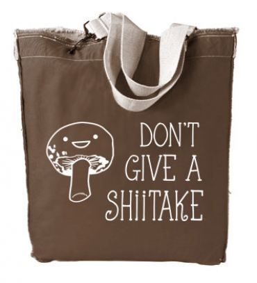 Don't Give a Shiitake Designer Tote Bag